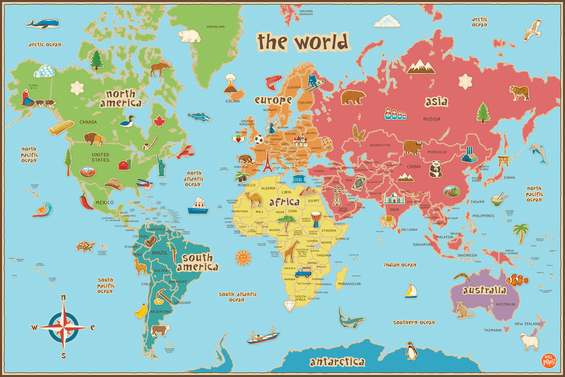 world-map-lisa-m - Great River Arts