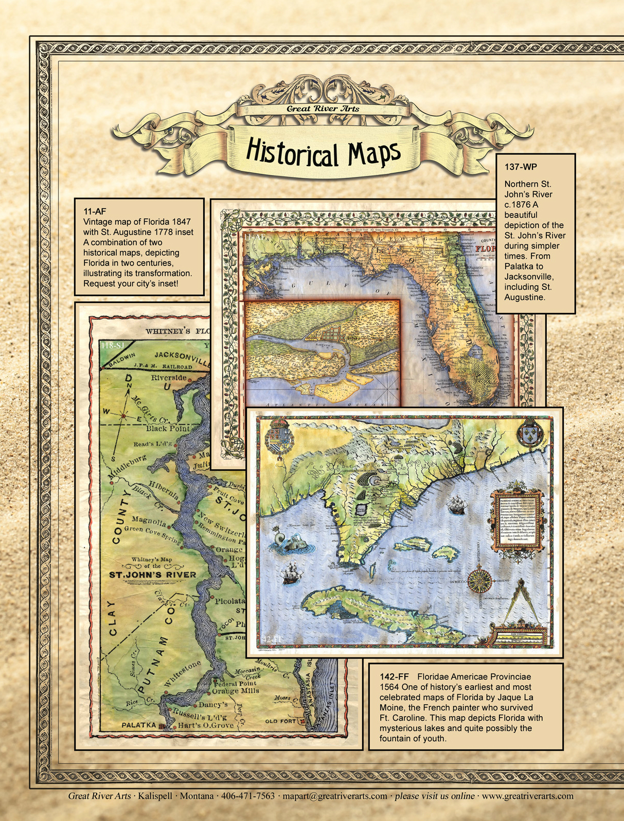 Florida Brochure Great River Arts - Map of florida please