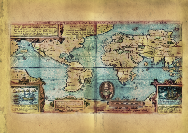 EDUCATIONAL MAP FEATURE : THE LOST MAP OF SIR FRANCIS DRAKE - Great on