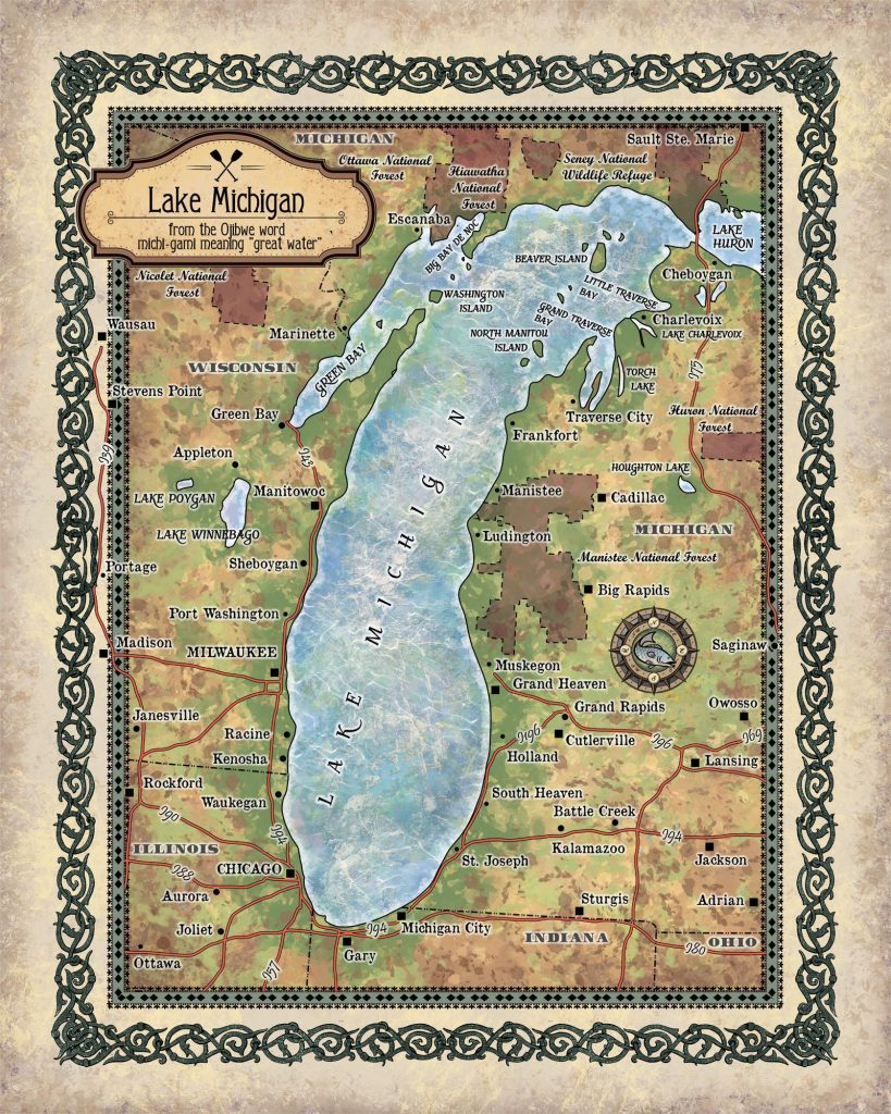 Travel Tuesday Map Feature: Lake Michigan - Great River Arts