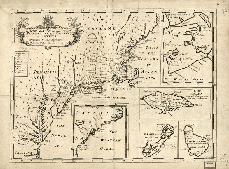 Map Of America Virginia.Educational Map Series Most Considerable Plantations Of The English