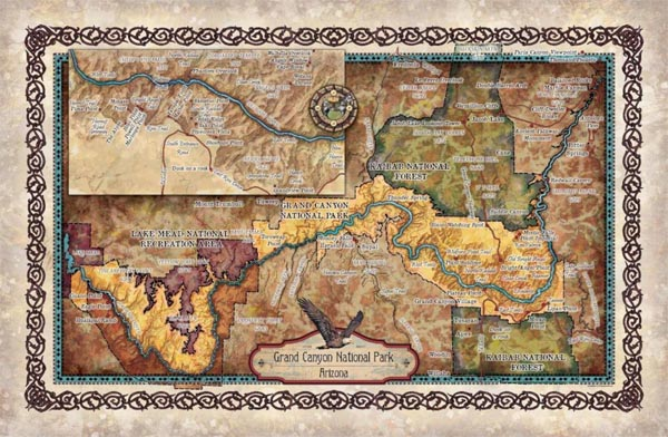 Travel Map Feature: Grand Canyon sites and hikes - Great ...